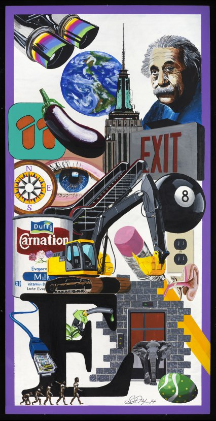 New York Artist Scott Duffy Final E Painting